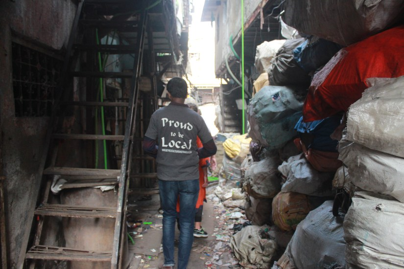 On a tour through Dharavi with a local tour guide. Photo: Bianca Caruana
