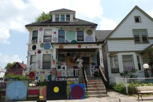 The Dotty Wotty House as part of the Heidelberg Project in Detroit. Photo: Kathleen Walls