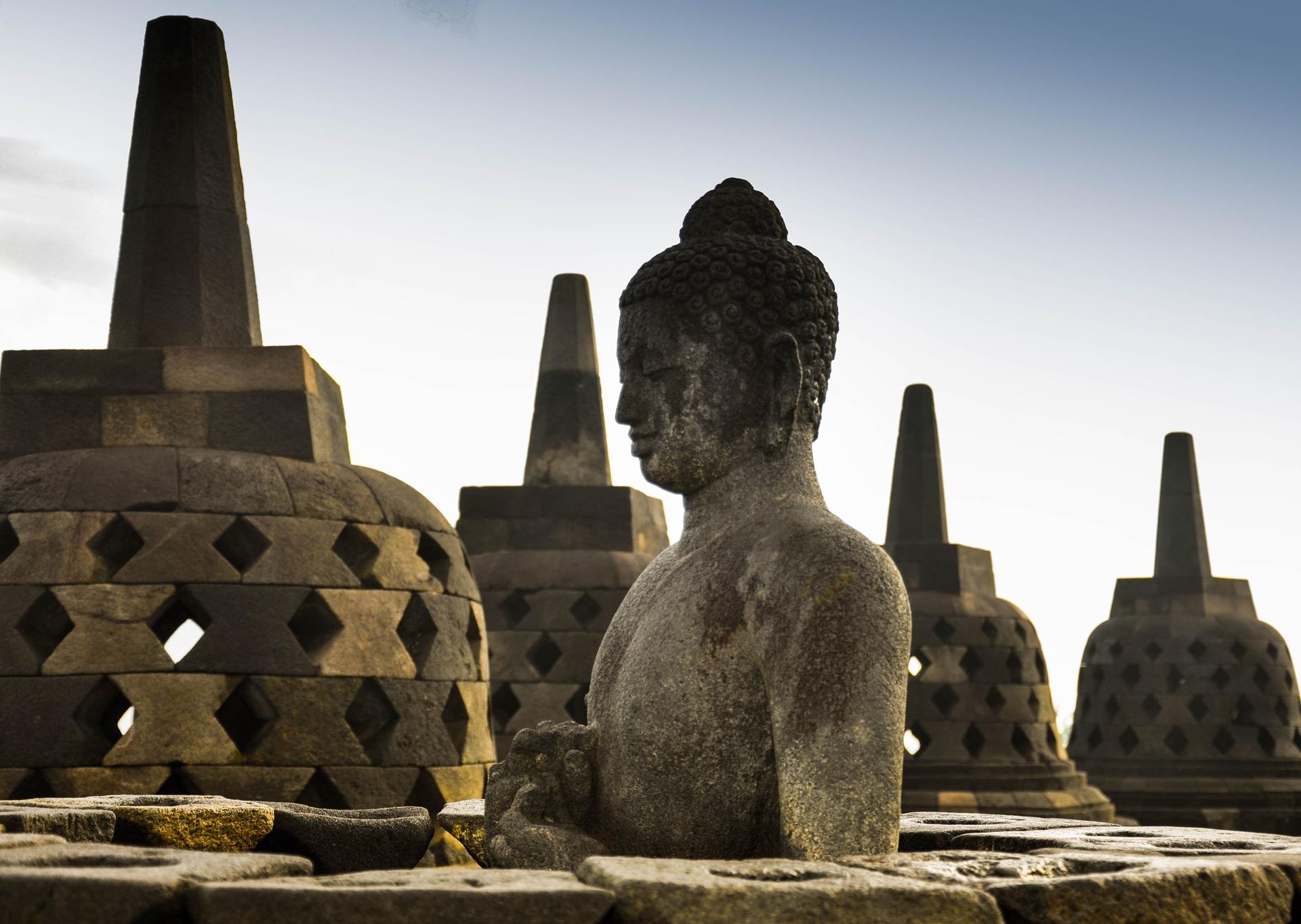 Borobudur Temple in Central Java, Indonesia