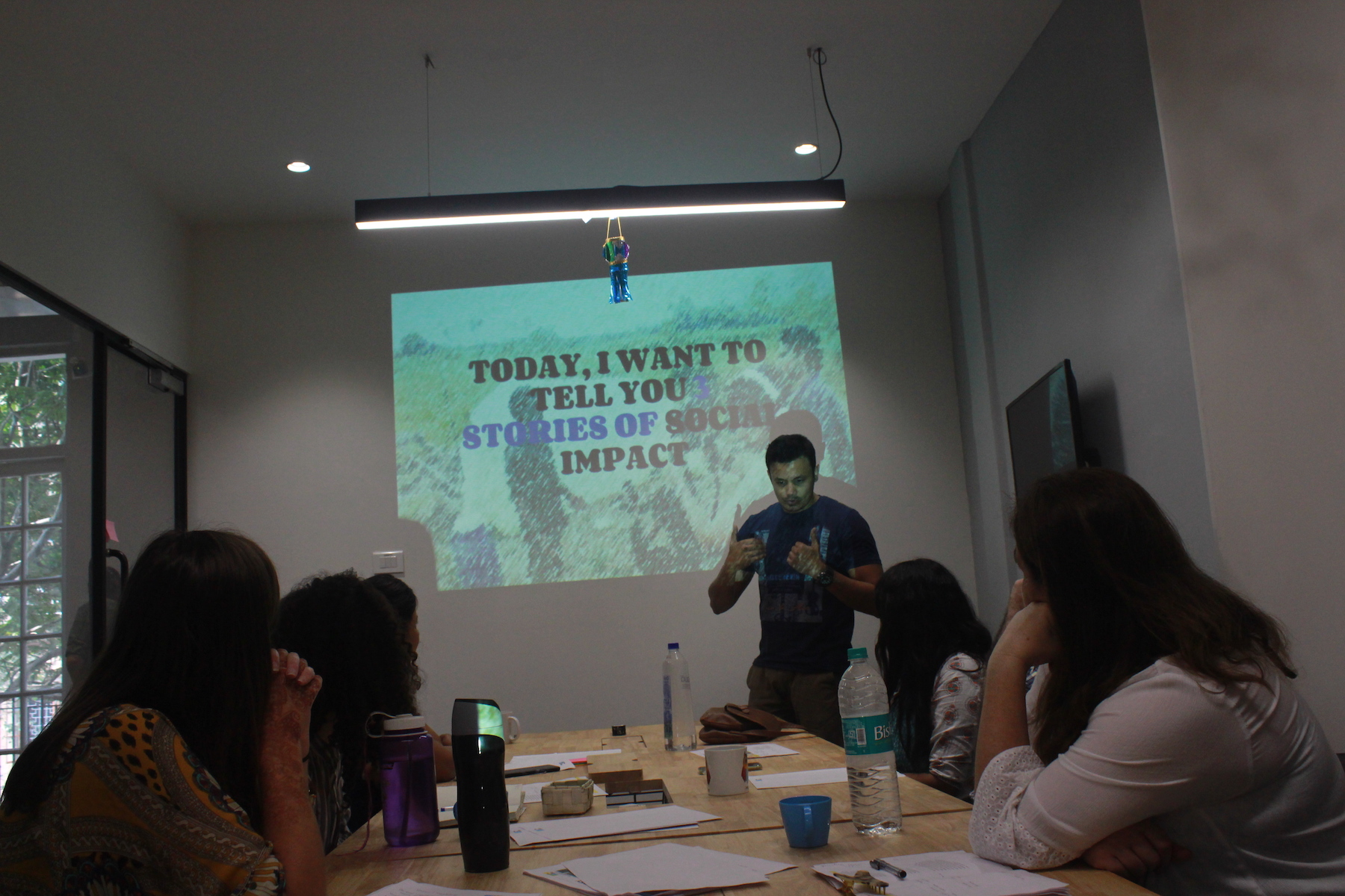 Volungearing training photo using social media to make an impact. Photo: Bianca Caruana