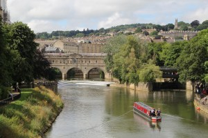 Bath, England on the river.