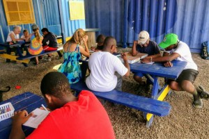 A voluntourism project with Caribbean kids from the program in the story. Photo: Breana Johnson