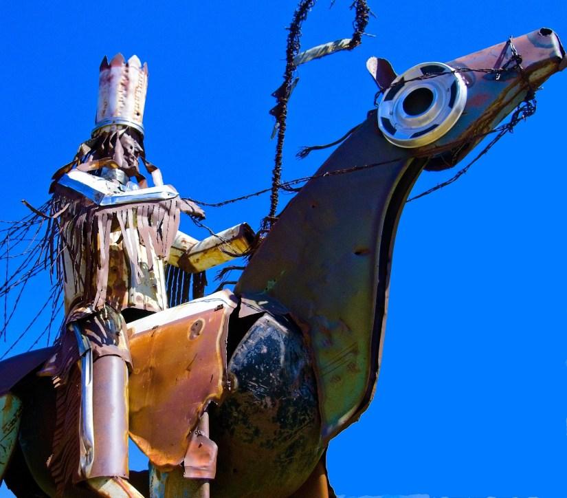 Statue of a Blackfeet Warrior