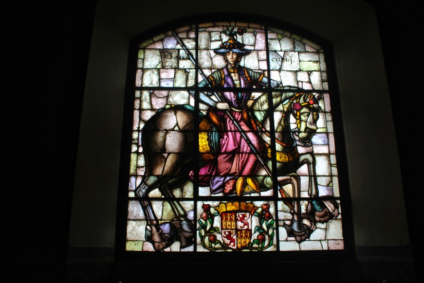 Stained glass windows in Alcazar of Segovia. Photo: Tania Banerjee