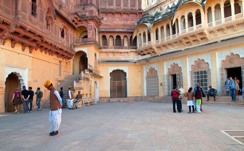 A courtyard in Mehrangarh fort. Photo: Sugato Mukherjee