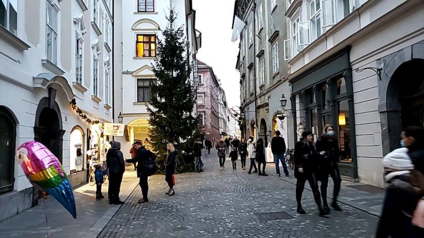 Ljubljana city center and local shoppers. Photo: Tonya Fitzpatrick