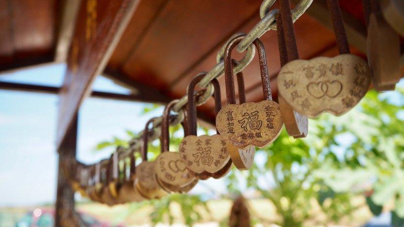 Wish locks in Sekinchan