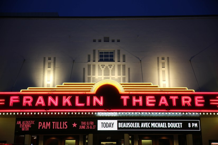 The Franklin Theatre has been on Main Street since the early 1930s and today is considered one of, if not the, best 300 music venue in the world. Photo Courtesy Visit Franklin.