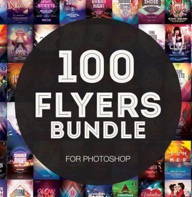 MEGA BUNDLE 100+ FLYERS TEMPLATES FOR PHOTOSHOP