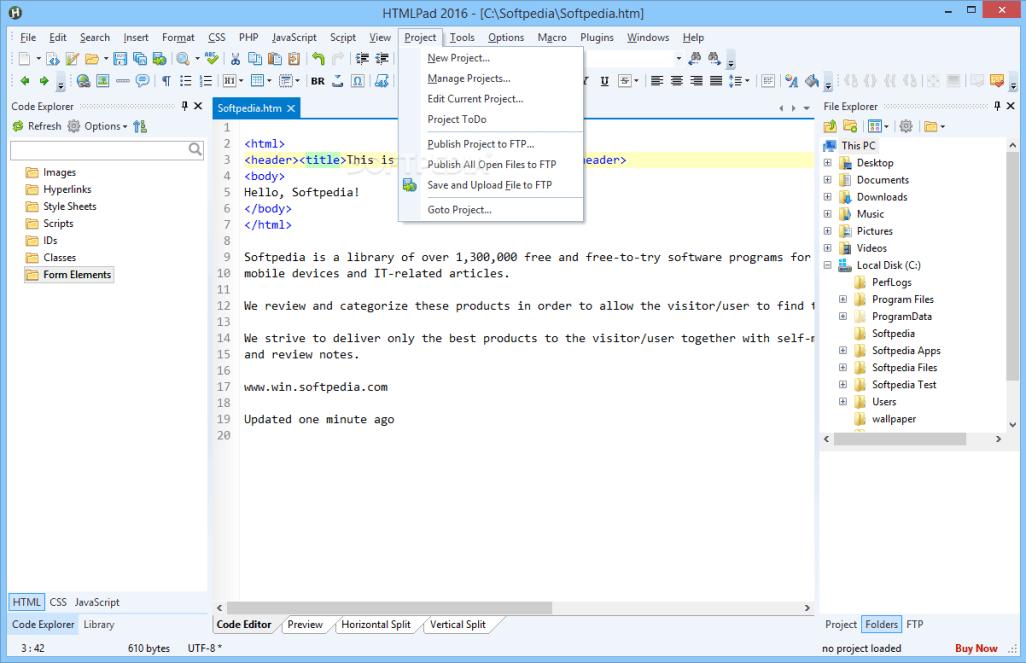 Blumentals HTMLPad 2018 15.2.0.204 Free Download