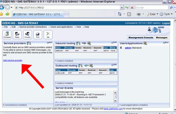 Ozeki NG SMS Gateway 4