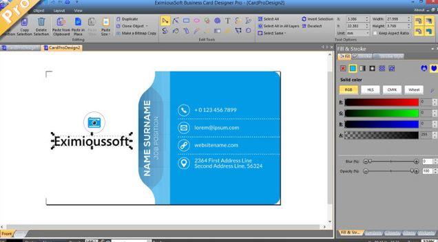EximiousSoft Business Card Designer Pro 3