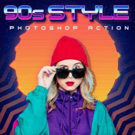 GraphicRiver – 90s Style Photoshop Action 26730215 free download