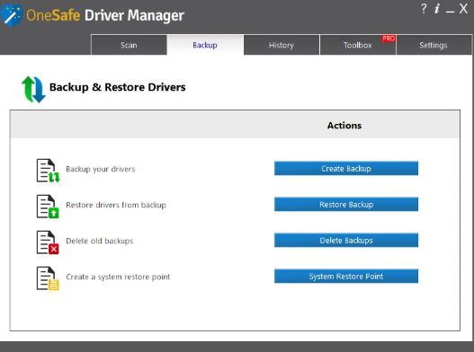 OneSafe Driver Manager Pro 5