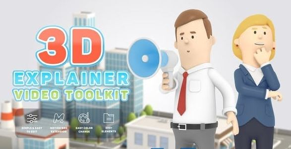 Videohive 3D Characters Explainer Toolkit