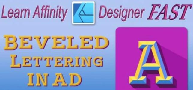 Beveled Lettering In Affinity Designer