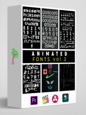 Tropic Colors – Animated Fonts Vol. 2