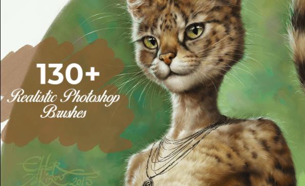 inkydeals — 130+ Realistic Photoshop Brushes