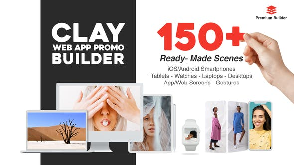 Videohive Clay Web App Promo Builder 28890153