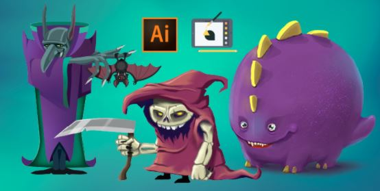 Drawing Monsters with Adobe Illustrator CC with Martin Perhiniak