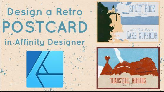 Designing a Retro Postcard in Affinity Designer on iPad with Ben Nielsen