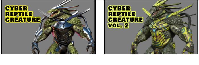 Victory 3D Cyber Reptile Creature Course by Nikolay Naydenov (Volume 1 & 2)