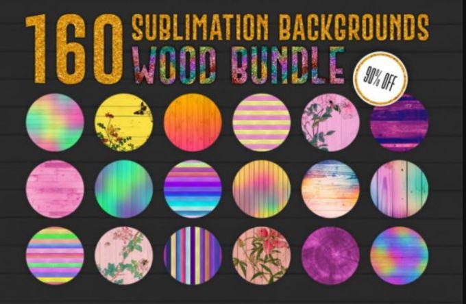 160 Sublimation Backgrounds BUNDLE 11425918