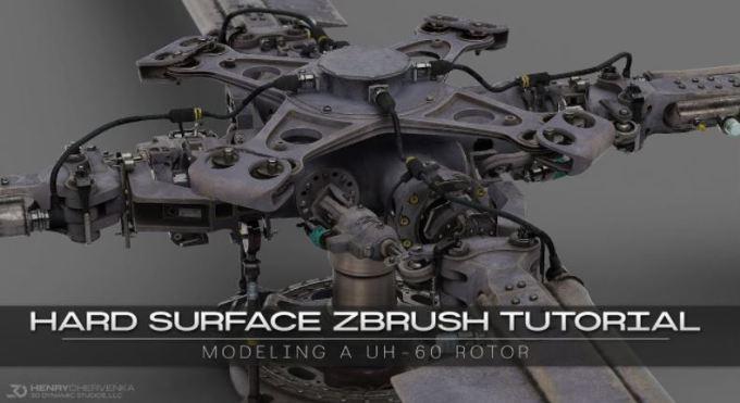 Artstation – Hard Surface ZBrush Tutorial // Modeling A UH-60 Rotor by Henry Chervenka