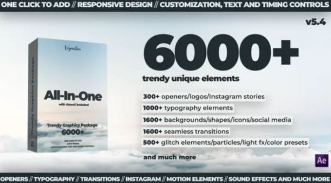 Videohive - 6000+ Graphics Pack V5.4