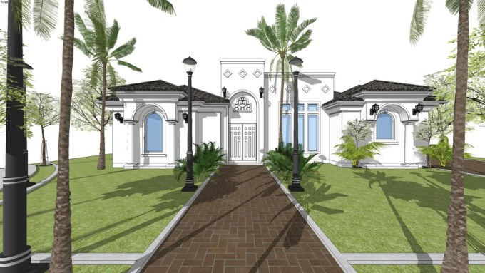 SketchUp 2D to 3D - Spanish Architecture