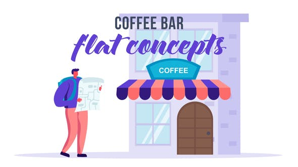Videohive Coffee Bar Flat Concept 33544788 Free Download