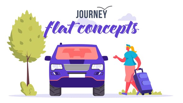 Videohive Journey Flat Concept 33544799 Free Download