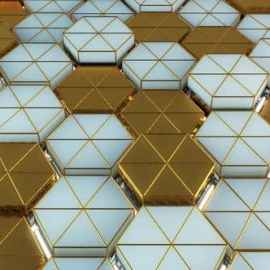 Videohive Light And Gold Hexagon Background 33527004 Free Download