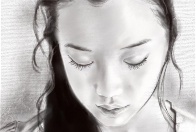 Realistic Portraits in Procreate How to create a Grayscale Portrait