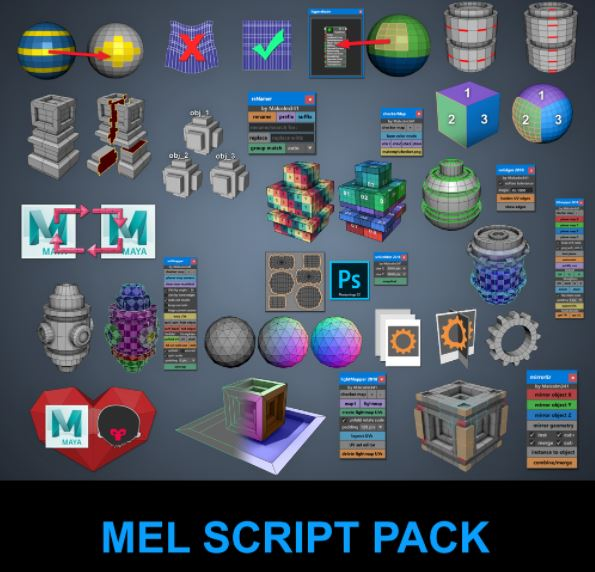 Gumroad – Malcolm341 All Mel Script Pack for Maya (Updated)