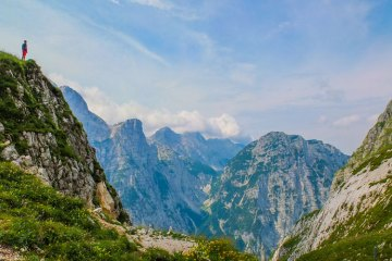 slovenia hitchhiking to triglav national park