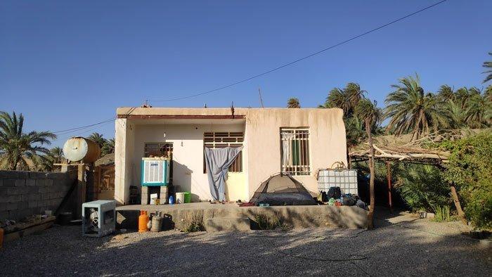 camp in garden in iran