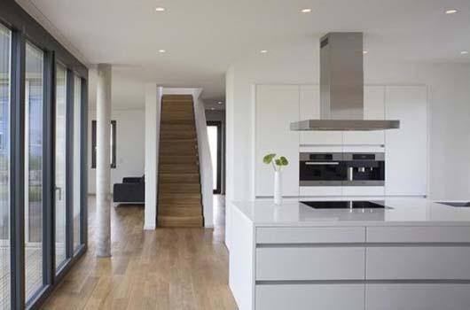 Modern L Shape House Design By Lorentz Roth Architects