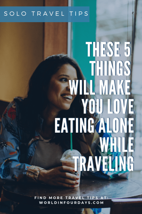 Traveling solo can sometimes get lonely especially when it comes to Solo Restaurant Dining. If you're traveling solo and worried about dining alone, check out these Solo Dining Restaurant Tips.