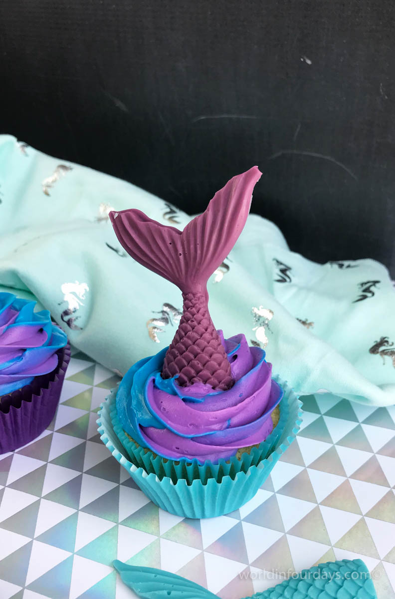 Mermaids have always reminded me of summer and since summer is right around the corner, this Mermaid Cupcake Recipe definitely has me feeling the summer vibes. Check out my step-by-step recipe and learn how to make these beautiful yummy treats!