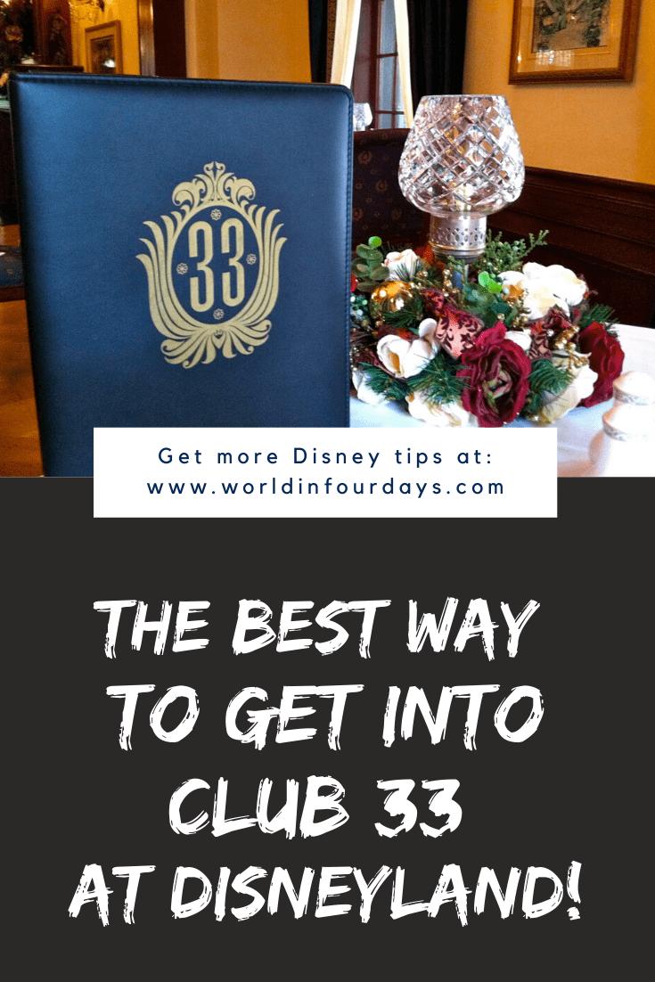 Can You Bring Food Into Disneyland | Club 33