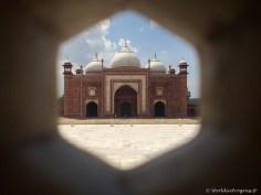 Merci notre guide pour ce cliché pris de l'intérieur du Taj Mahal