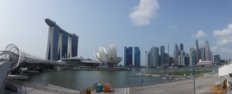 Marina Bay Sands et Singapour Skyline