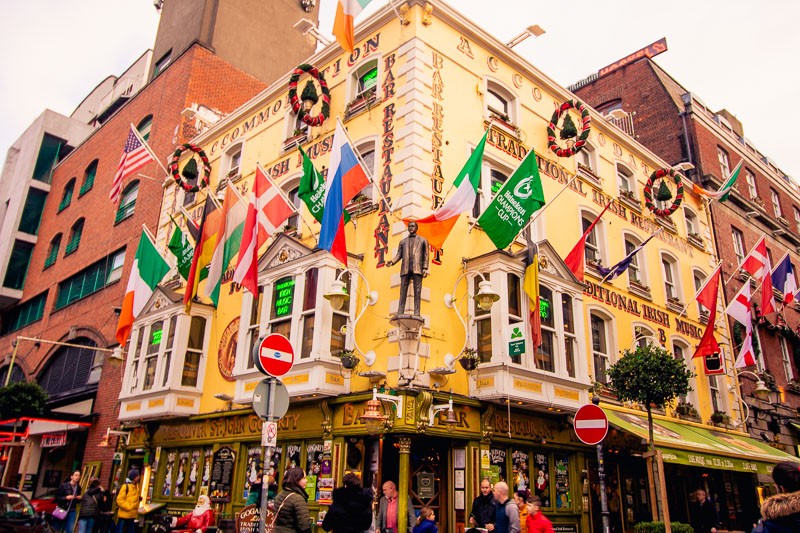 Temple Bar, 2 days in Dublin