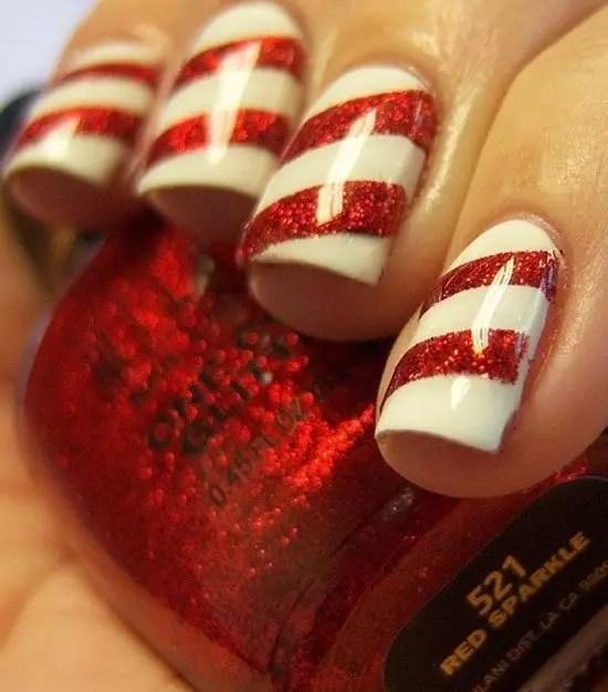 16 Creative And Easy Diy Christmas Nail Art Ideas Tutorials