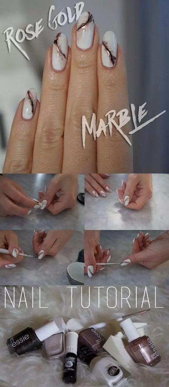 How To Get Marble Nails Effect: 8 DIY Trendy Ideas