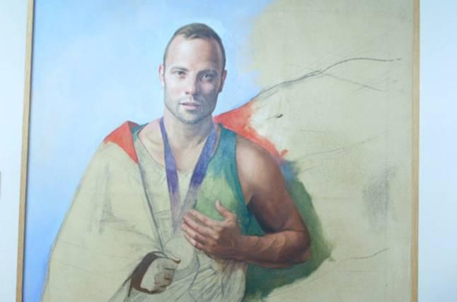 Oscar Pistorius Portait Unfinished