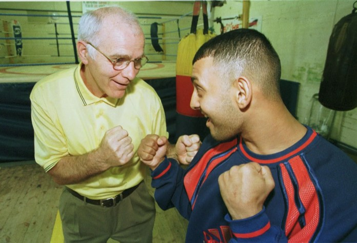 Brendan Ingle and Naseem Hamed