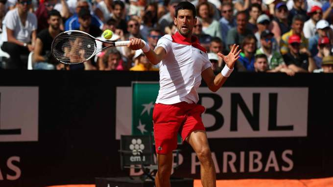 Novak Djokovic At Rome Masters