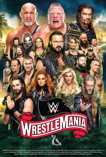 wwe wrestlemania 36 poster by chirantha dds35nm fullview
